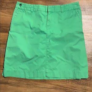 VTG Lilly Pulitzer bright green skirt Size 10